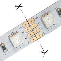 Strihanie LED pásu