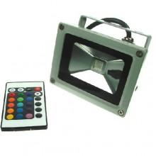 RGB LED reflektor 10W s diaľkovým ovládaním