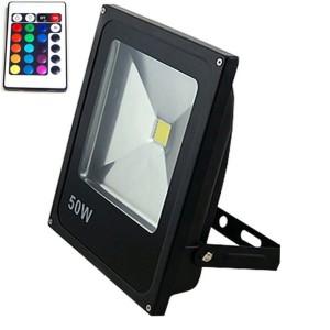 RGB LED reflektor 50W s diaľkovým ovládaním