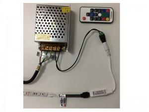 RGB LED adaptér zapojenie