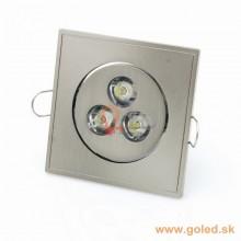 3W hranaté Power LED svietidlo