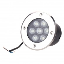 Okrúhle LED svietidlo do podlahy