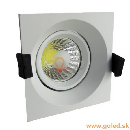 Prémiové zapustené hranaté biele LED svietidlo 8W