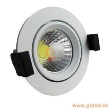 Prémiové zapustené okrúhle biele LED svietidlo 8W