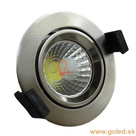 Prémiové zapustené okrúhle chrómové LED svietidlo 8W