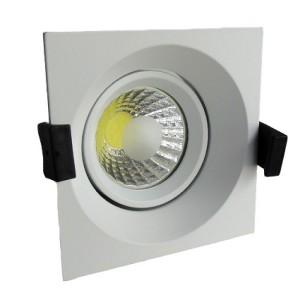 Zapustené hranaté biele LED svietidlo 8W