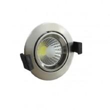 Zapustené okrúhle chrómové LED svietidlo 8W