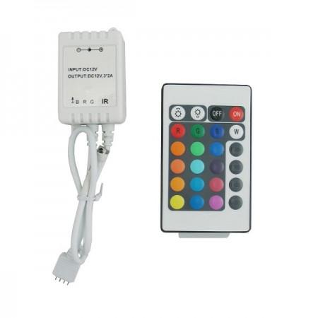 LED diaľkový IR ovládač RGB 72W
