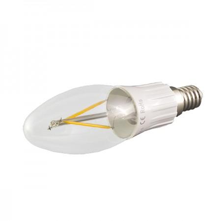 Prémiová LED filament sviečka E14 3W