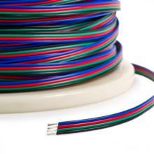 Napájacie vodiče štvorlinka 4x0,35mm na RGB pásy