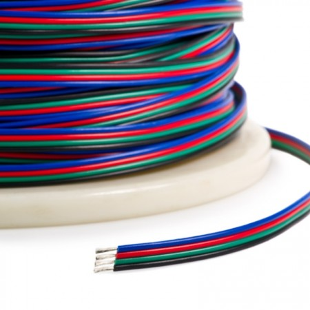 Napájacie vodiče štvorlinka 4×0,35mm na RGB pásy