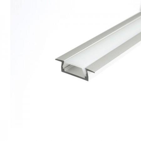 Zápustný hliníkový profil MICRO K s povrchovou úpravou 2m