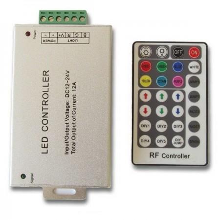LED diaľkový RF ovládač RGB 144W 28 tlačidiel