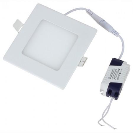 Hranatý zapustený biely LED mini panel 6W