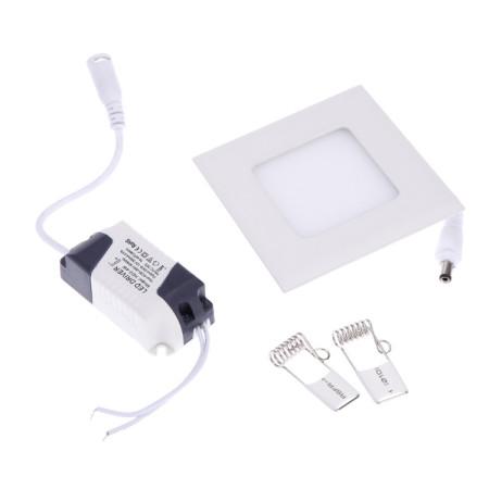 Hranatý LED mini panel 3W so zdrojom