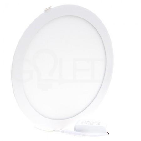 Okrúhly zapustený LED panel 24W