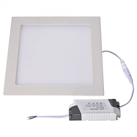 Hranatý LED panel 18W