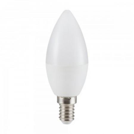 Stmievateľná mliečna LED sviečka E14 6W