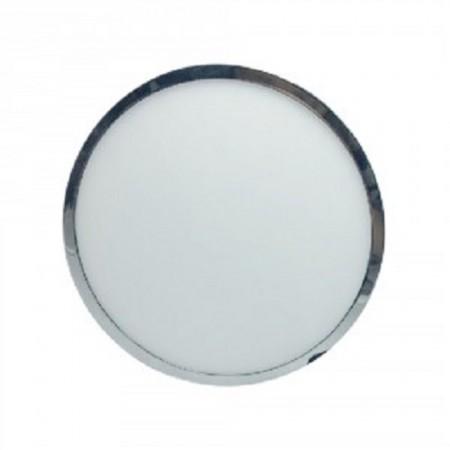 Chrómový okrúhly LED panel 12W na povrchovú inštaláciu