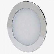 Chrómový okrúhly zapustený LED mini panel 18W