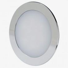 Chrómový okrúhly zapustený LED panel 12W
