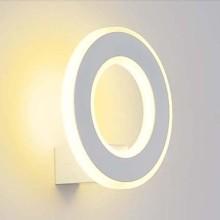 Biele okrúhle nástenné LED svietidlo 6W
