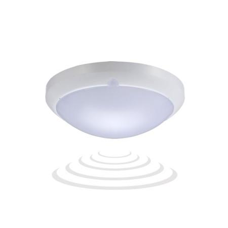 vodeodolná okrúhla LED stropnica s mikrovlnným senzorom 16W
