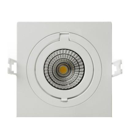 Prémiové zapustené hranaté výklopné biele LED svietidlo 12W