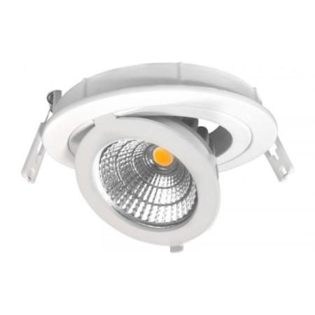Prémiové zapustené okrúhle výklopné biele LED svietidlo 12W