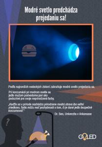 Infografika - Modré svetlo predchádza prejedaniu sa
