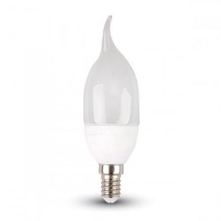 Mliečna LED sviečka plameň E14 4W