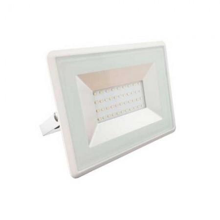 Prémiový biely LED reflektor 20W
