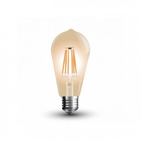 Jantárová LED filament žiarovka E27 ST64 4W