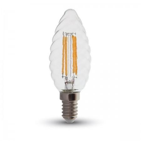 LED filament twist sviečka E14 4W