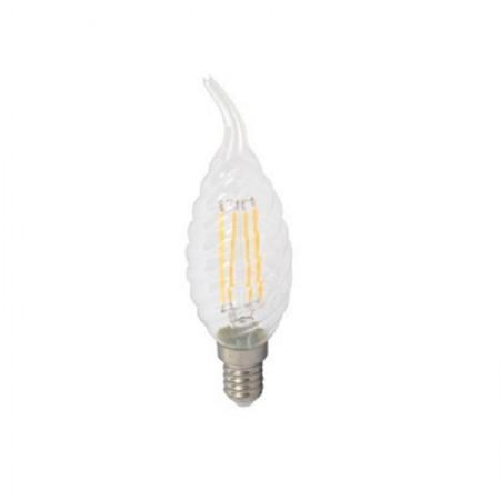 LED filament twist sviečka E14 4W plameň