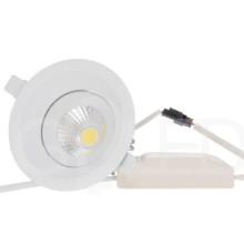 Zapustené okrúhle biele LED svietidlo 8W so zdrojom