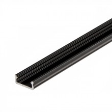 Čierny hliníkový profil