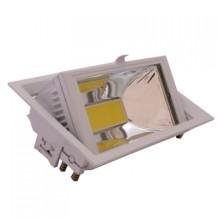 Zapustené hranaté biele LED svietidlo 30W