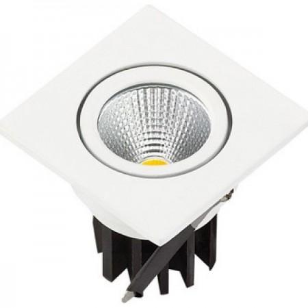 Zapustené hranaté biele LED svietidlo 3W
