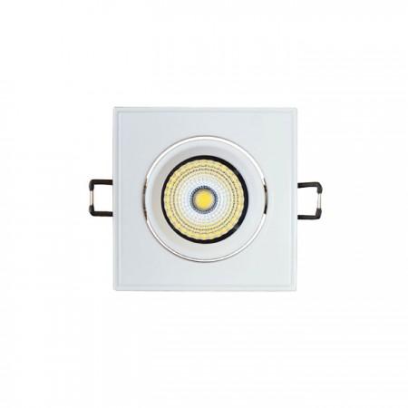 Zapustené hranaté naklopiteľné biele LED svietidlo 3W
