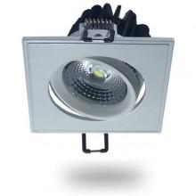 Zapustené hranaté naklopiteľné biele LED svietidlo 5W