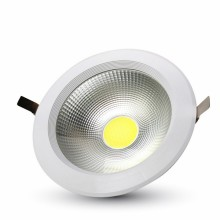 Zapustené okrúhle biele LED svietidlo 40W