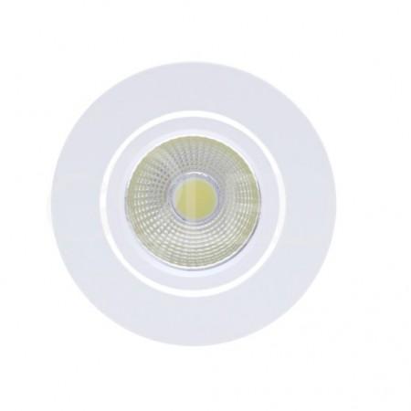 Zapustené okrúhle biele LED svietidlo 3W