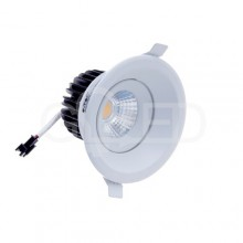 Zapustené okrúhle biele LED svietidlo 8W