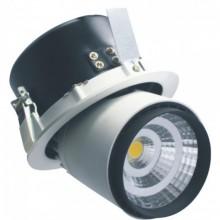 Zapustené okrúhle čierne LED svietidlo 25W