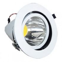 Zapustené okrúhle naklopiteľné biele LED svietidlo 20W