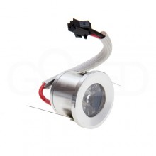 Zapustené okrúhle orientačné mini LED svietidlo 1W