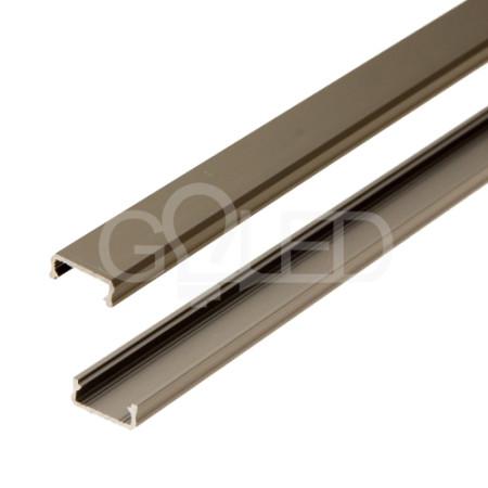 Bronzová hliníková lišta