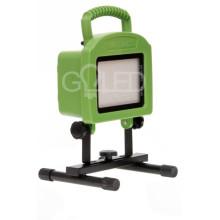 Prenosný nabíjateľný LED reflektor 20W s akumulátorom zboku