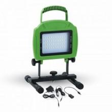 Prenosný nabíjateľný LED reflektor 20W s akumulátorom